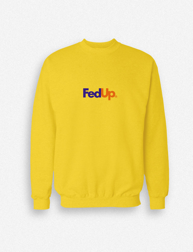 Hipland Fed Up unisex Sweater in white, black, ash, grey, gold