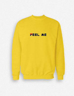 Hipland Feel Me unisex sweater white, black, orange, red, yellow