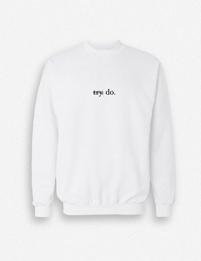 Hipland Try_Do unisex Sweater in white, red