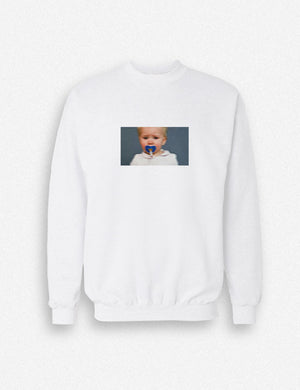 Hipland Burn Out vs Fade Away unisex Sweater in white