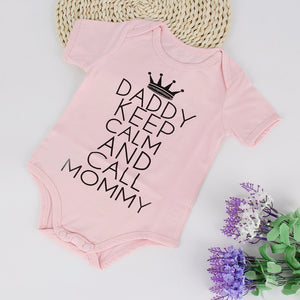 "Body baby ""Daddy keep calm and call Mommy"""