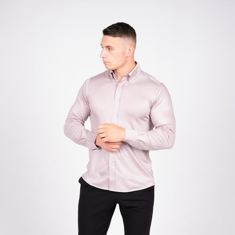 Grey Non Iron 8x Stretch Shirt