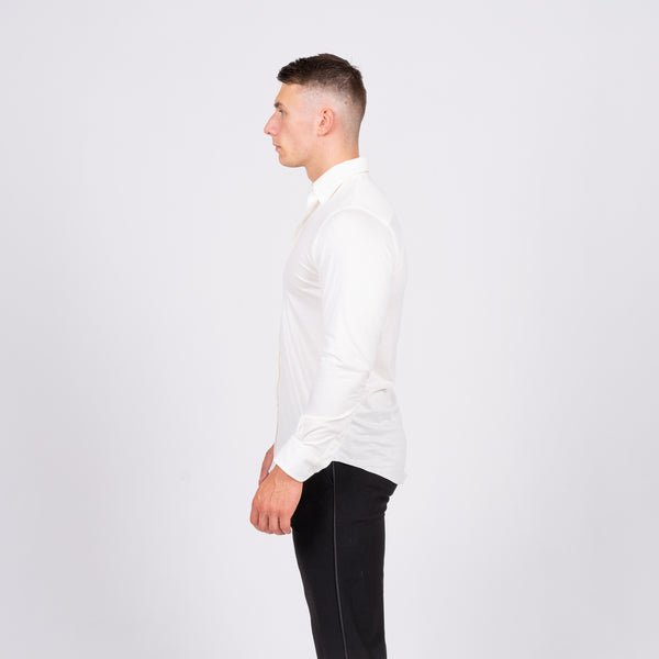 off white tailored fit stretch shirt