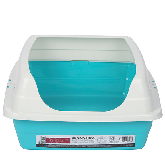 M-PETS Mansura Cat Litter Tray with Rim