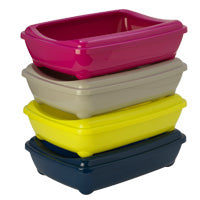 Moderna Pet Cat Litter Tray with Rim Arist-O-Tray Large Various Colours
