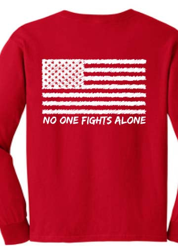 Long Sleeve tee On Fridays We Wear RED