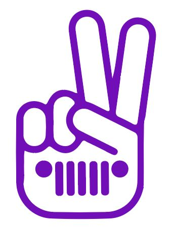 Peace jeep decal