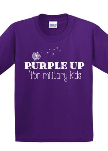 PURPLE UP FOR MILITARY KIDS tee shirt