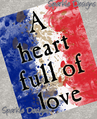 A heart full of love - Les Miserables 66 Art Print