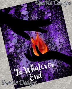 To whatever end - Throne of Glass 160 Art Print