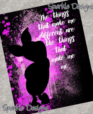 The things that make me different - Piglet 104 Art Print