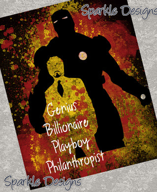 Genius, Billionaire, Playboy, Philanthropist - Iron Man 114 Art Print