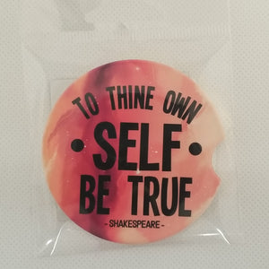 Sandstone Car coaster - Shakespeare - To thine own self be true