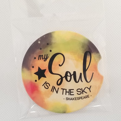 Sandstone Car coaster - Shakespeare - My Soul is in the Sky