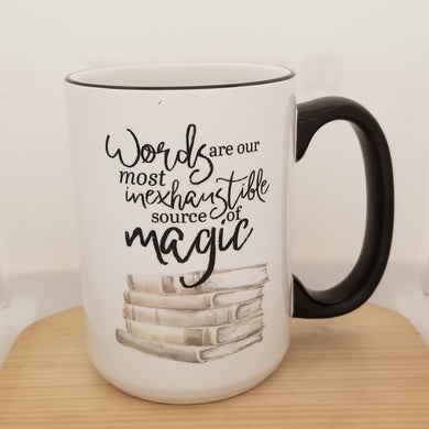 Words quote - Dumbledore / Harry inspired mug