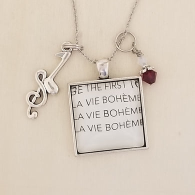 Rent book charm necklace