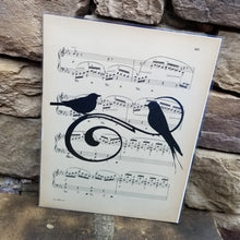 Music Art - Swirl with Two Birds