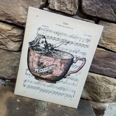 Music Art - Alice in Pink Teacup
