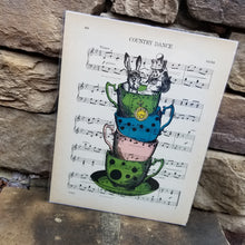Music Art - Alice in Stack of Teacups