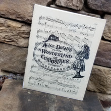 Music Art - Alice and Cheshire Cat with Sign