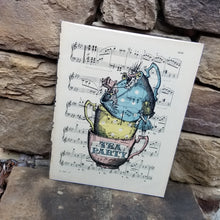 Music Art - Alice Tea Party Teacups