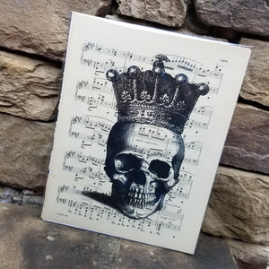 Music Art - Skull with Crown