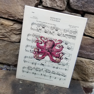 Music Art - Pink Octopus