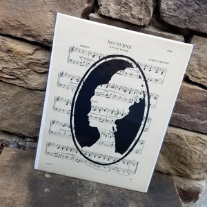 Music Art - Woman Silhouette