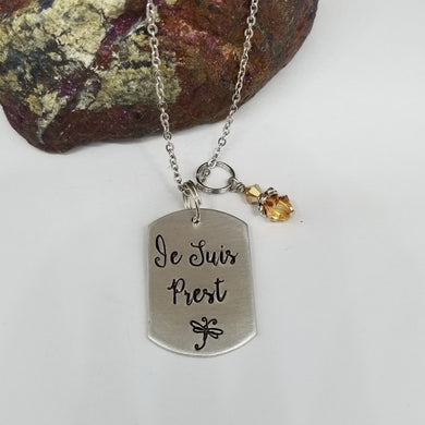Je Suis Prest - Pendant Necklace