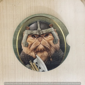 *Licensed* Jenny Parks car coaster  *Lord of the Cats - Gimli*