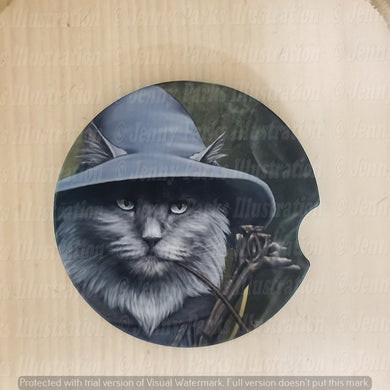 *Licensed* Jenny Parks car coaster  *Lord of the Cats - Gandalf*