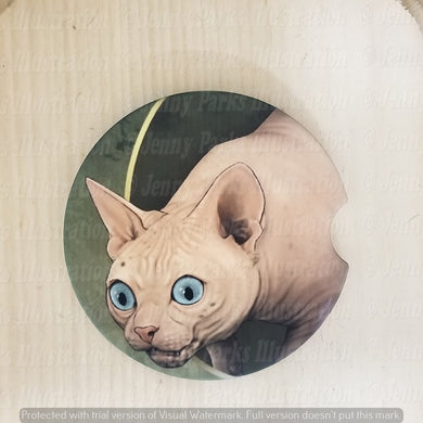 *Licensed* Jenny Parks car coaster  *Lord of the Cats - Gollum*