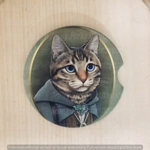 *Licensed* Jenny Parks car coaster  *Lord of the Cats - Frodo*