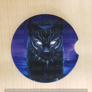*Licensed* Jenny Parks car coaster  *Black Panther*