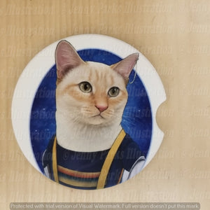 *Licensed* Jenny Parks car coaster  *Doctor Mew - 13*