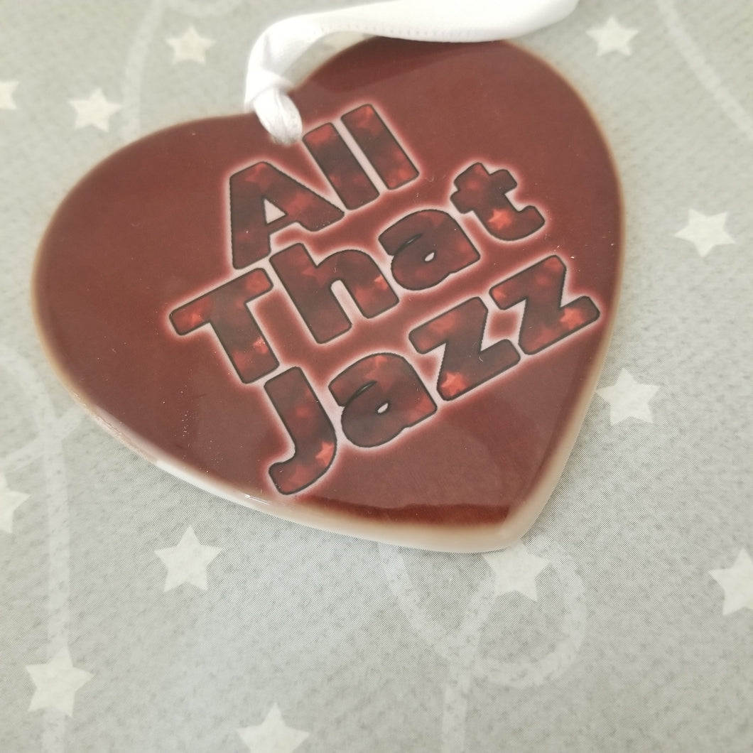 Porcelain ornament - Chicago inspired - All That Jazz