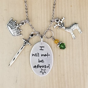 I Will Not Be Afraid - Charm Necklace
