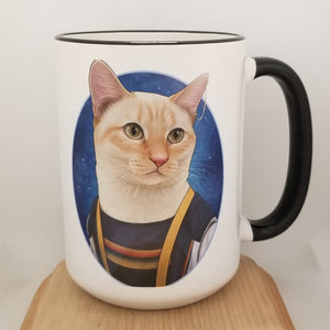 Doctor Mew - Thirteenth Doctor 15 oz coffee mug