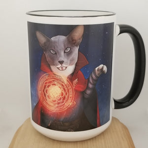 Docpurr Strange 15 oz coffee mug
