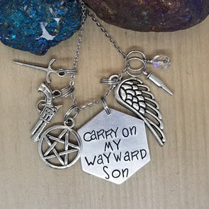 Carry On My Wayward Son - Charm Necklace