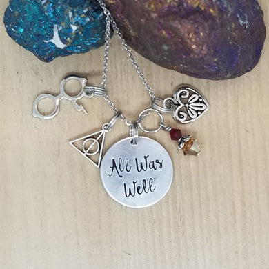 All Was Well - Charm Necklace
