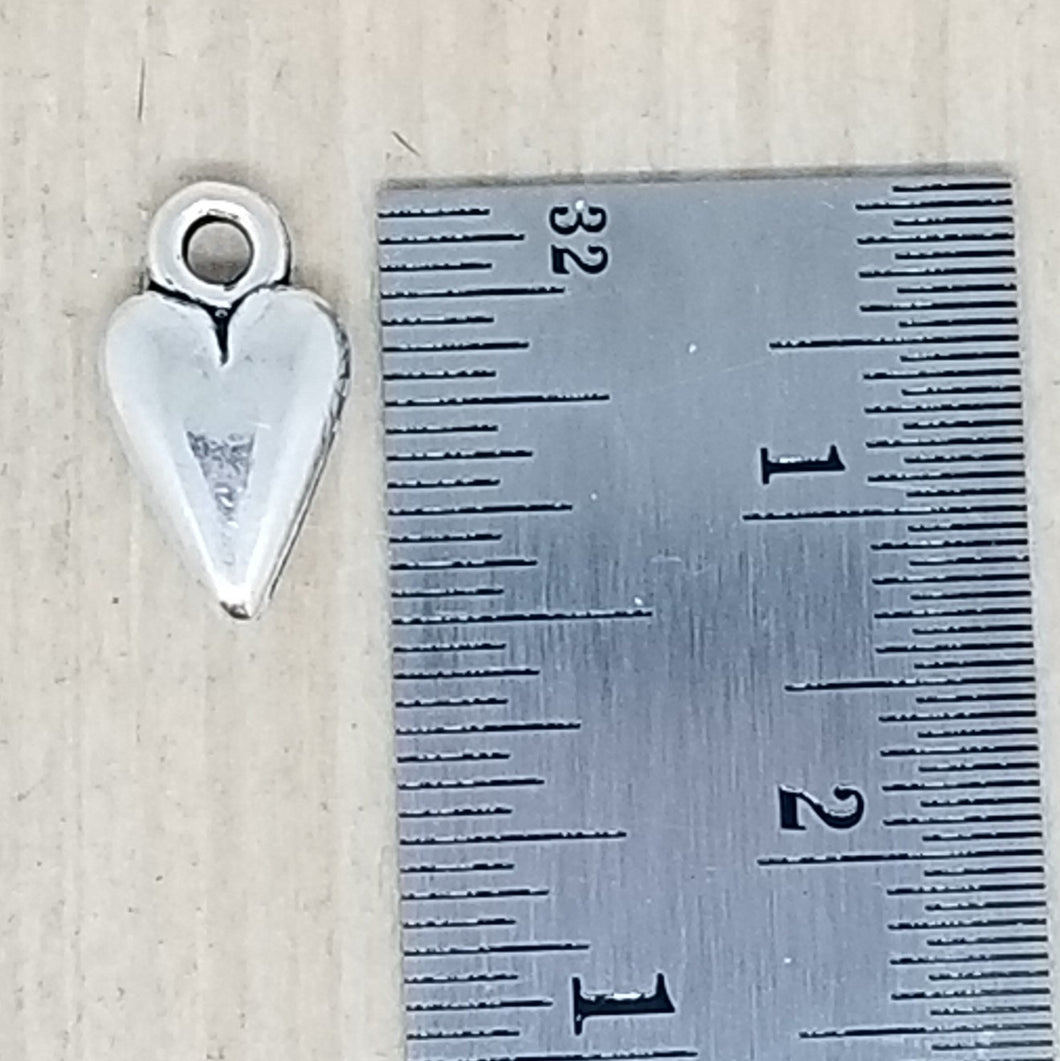 Small Narrow Heart Charm