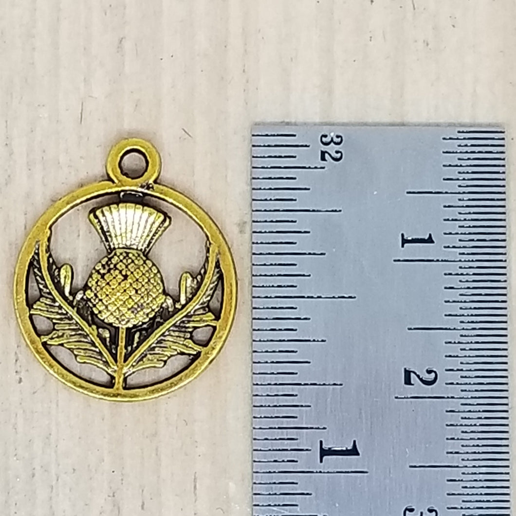 Brass Thistle Charm