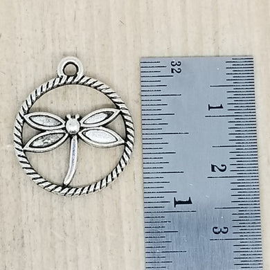 Dragonfly in a Circle Charm