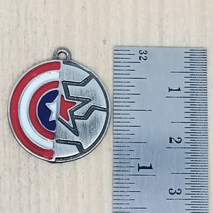 Captain America Shield and Winter Soldier Star Charm