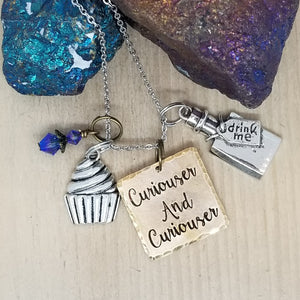 Curiouser and Curiouser - Charm Necklace