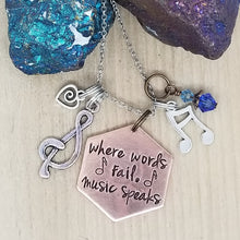 Where Words Fail, Music Speaks - Charm Necklace