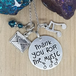 Thank You For The Music - Charm Necklace