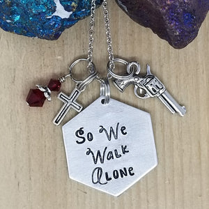 So We Walk Alone - Charm Necklace