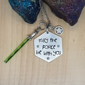 May The Force Be With You - Charm Necklace